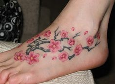 Floral Foot Tattoo