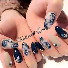 Elegant nail art designs for prom 2019 043 - Makeup for Best Skins! Love Nails, Pretty Nails, Korea Nail Art, Nail Art Designs, Gel Polish Designs, Elegant Nail Art, Uñas Fashion, Japanese Nails, Prom Nails