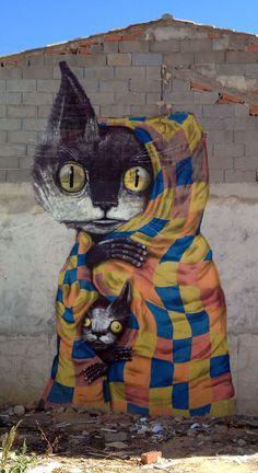Die Katzen von Fanzara. MIAU ist das Urban Art Museum in Castellon, Spanien und bietet Streetart vom Feinsten.
