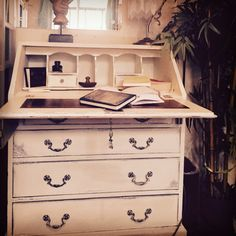 Secretary desk refurbished in romantic French style