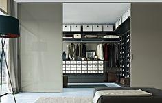 Ubik Walk-In Closet by CR&S Poliform for Poliform Closet Walk-in, Dressing Room Closet, Closet Bedroom, Closet Storage, Bedroom Storage, Master Bedroom, Closet Ideas, Closet Doors, Walk In Wardrobe Design
