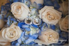 Congratulations to Kate and James, a Bell Event Centre winter wedding White Rose Bouquet, White Roses, Beautiful Bouquets, Blue Hydrangea, Floral Designs, Reception Ideas, Congratulations, Centre, Bling