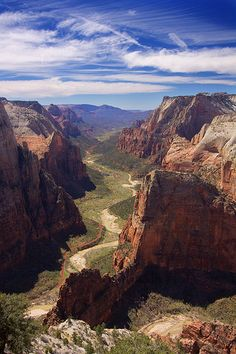View from Angel's Landing in Zion. Best hike we've ever done.