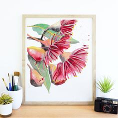 art for your walls shop now Australian Native Flowers, Australian Art, Flower Collage, Collage Art, Collages, Abstract Watercolor, Watercolor Flowers, Abstract Art, Acrylic Painting Lessons