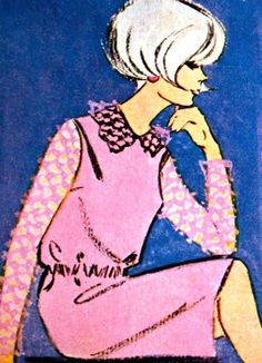 Magdorable!: Fashion illustrations by R. Aarts, Libelle (Belgian edition) March 1965