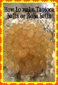 How to make tapioca balls (boba balls) for bubble tea, from scratch. Easy pictorial and instructions. Yummy Drinks, Healthy Drinks, Yummy Food, Tea Recipes, Dessert Recipes, Cooking Recipes, Vegetarian Recipes, Tapioca Balls Recipe, Tapioca Flour Recipes