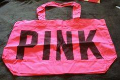 0a871dbcbc7 Victorias Secret PINK Tote Bag Canvas Beach Bag Travel