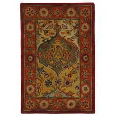 Astoria Grand Balthrop Multi/Red Area Rug Rug Size: