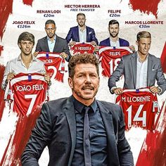 Diego Simeone is ready to build Atletico ⚪🔴 It will be very interesting to look at them in the new season! Soccer News, Sports News, Soccer Sports, Top League, Major League, Manchester City, Manchester United, At Madrid, Celtic Fc
