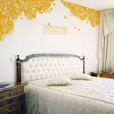 The Best and Most Rose with Butterfly Wall Decals