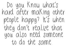 Wanting to be happy....