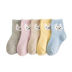 5 Pairs/lot Cotton Children's Socks For Baby Boy Girl Kid Cartoon Print Fashion Sport Socks
