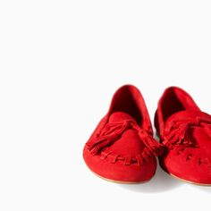 ZARA - WOMAN - SOFT LEATHER MOCCASIN WITH TASSEL