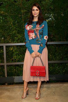 Miriam Leone - Gucci Spring 2016 Arrivals - September 23, 2015
