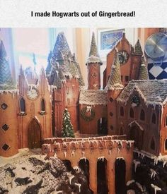 Gingerbread Hogwarts!!! ⚡️>>that must have taken so long!!