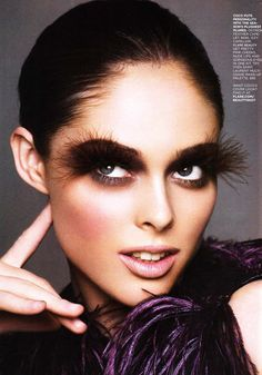 Now it just looks like she needs a damn good waxing. Eyelashes should not look like eyebrows.