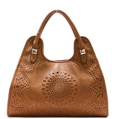 Laser Cut Claudia Satchel in Toffee on Emma Stine Limited Tote Handbags, Purses And Handbags, Brown Handbags, Look Fashion, Fashion Bags, Clutch Purse, Purse Wallet, Work Bags, Fashion Jewelry Necklaces