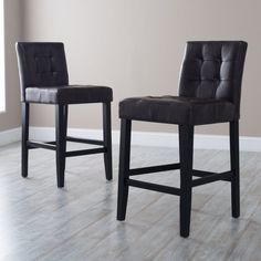 Martha Bonded Leather Bar Stool Brown - MARTHA-PRS-BS-BRW--