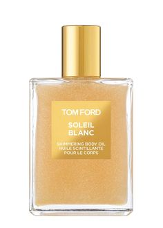 Tom Ford Shimmering Body Oil captures the sultry effect of sun-kissed summer skin. It tempts the senses with vibrant citrus notes and a sensual blend of ylang ylang, Egyptian jasmine and tuberose – the notes of Tome Ford's scorchingly sensual Soleil Blanc Eau de Parfum – as this silky and lightweight oil illuminates the skin with shimmers of gold and platinum leaf.£70 per 100.00ml