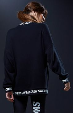 Sweat Crew Mock Neck Pullover Sweatshirt