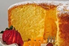 This Orange Chiffon Cake has the flavor of oranges. It contains both baking powder and a liquid fat (in the form of oil). It is the oil that gives this cake its wonderful moist and tender crumb and that keeps the cake soft even when refrigerated. From Joyofbaking.com With Demo Video