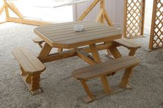 Octagon Picnic Table Plans | Picnic Table 1 - Wood