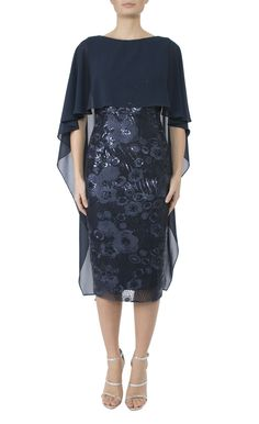 Mother Of The Bride   Navy Sequin Lace Dress
