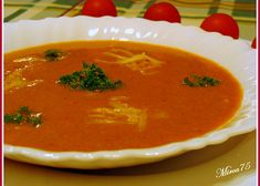 Rajská polévka se šlehačkou recept - TopRecepty.cz Thai Red Curry, Ethnic Recipes, Food, Essen, Meals, Yemek, Eten