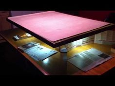 Dungeons and Dragons Game Table. Need to make a sweet set-up like this! One of these days...