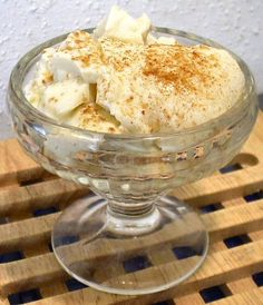 Josie's Creamy Egg Custard  - easy low carb dessert from Linda Sue's Low Carb Menus and Recipes