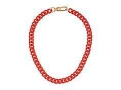 Marc by Marc Jacobs Key Items Rubber Chain Necklace Orange Glow - 6pm.com