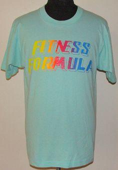Vintage 90's Fitness Formula t shirt L by retropopmanila on Etsy