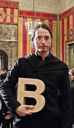 Pere Capellà Simó al Saló de Cent de l'Ajuntament de Barcelona