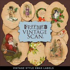 Freebies Kit de etiquetas Vintage Style NAVIDAD