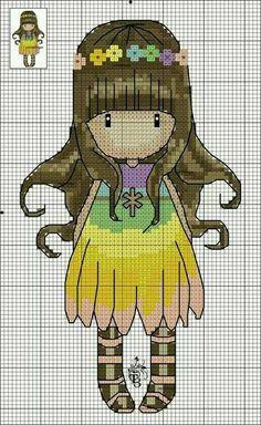 Mis puntadas preferidas: Patrones punto de cruz de muñecas gorjuss