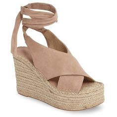 978a4ffcda33 MARC FISHER LTD Andira Platform Wedge Sandal Blush Suede platform espadrille  wedge sandals spring 2017