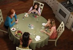 Bree, Gaby, Lynette, and Susan playing Poker. Desperate Housewives.
