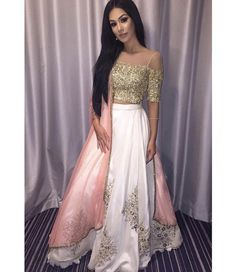 Items similar to Tapeta Silk Exclusive Amazing Embroidery Work On lehenga choli with Stitched Readymade Blouse and Heavy Dupatta on Etsy Indian Outfits Modern, Indian Fashion Dresses, Indian Wedding Outfits, Pakistani Dresses, Asian Fashion, Indian Weddings, Fashion Men, Fashion Design, Lehnga Dress