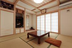【アイジースタイルハウス】畳・和室。真壁づくりの本格和室は、ご両親のリビング 兼 客間として利用