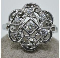 Gorgeous 14kt. White Gold  1 Ct. T.W. Diamond Ring