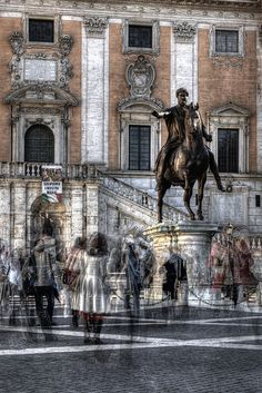 Emperor Marco Aurelio equestrian portrait, Rome, Italy