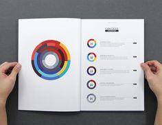 This report created a sweet visual system. Each chapter has its own graphic, all which stack together to produce the larger one on the counter page.