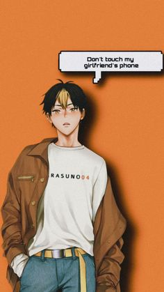 Anime Lock Screen Wallpapers, Anime Wallpaper Phone, Dont Touch My Phone Wallpapers, Anime Backgrounds Wallpapers, Haikyuu Wallpaper, Animes Wallpapers, Funny Wallpapers, Haikyuu Nishinoya, Haikyuu Fanart