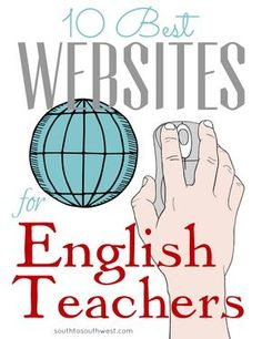10 best websites for english teachers // these are the sites that i go back to time after time for easy, fun, and usefull teaching ideas! English Resources, Education English, English Lessons, Learn English, Ap English, English Debate, English Websites, English Typing, Teach English To Kids