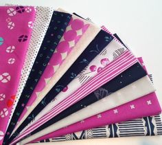 A beautiful giveaway bundle, courtesy of Fabric Spark shown on She Can Quilt blog