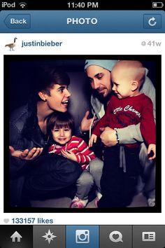 Justin Bieber, Jeremy Bieber, Jazzy Bieber, and Jaxon Bieber.