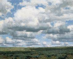 "Clyde Aspevig, ""Prairie Clouds,"" oil on linen, 24 x 30"