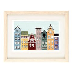 This Scandinavian art print addition to the ever expanding Cities series adds another colorful sophisticated color scheme of Helsinki, Finland to the