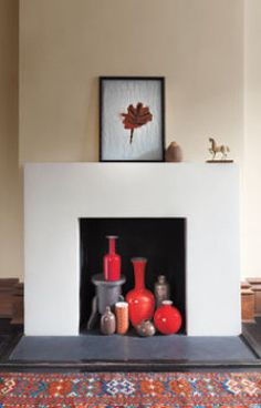 Great Idea For Making Your Fireplace A Focal Point In The Summer.