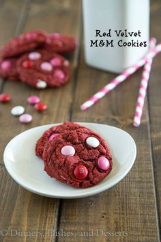 Red Velvet M&M Cookies | Dinners, Dishes, and Desserts - Part 1